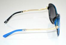 OCCHIALI da SOLE donna BLU ORO aste dorate strass темные очки sunglasses BB24
