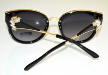 OCCHIALI da SOLE donna NERE lenti aste oro dorate strass cristalli темные очки BB2