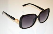 OCCHIALI da SOLE donna NERI ORO dorati CRISTALLO strass lenti black sunglasses BB48