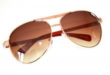 OCCHIALI da sole uomo marroni dorati lenti ovali lunettes F65