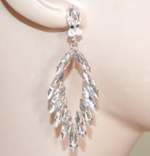 ORECCHINI ARGENTO cristalli donna pendenti strass gocce eleganti cerimonia sposa S83