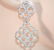 ORECCHINI donna ARGENTO STRASS eleganti brillantini cristalli da cerimonia 1010