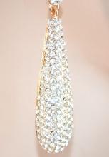 Orecchini donna cristallo ORO strass BIANCHI brillantini ELEGANTI Cerimonia pendenti sposa E59
