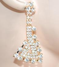 ORECCHINI oro donna pendenti dorati strass brillantini cristalli idea regalo F240
