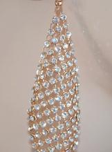 ORECCHINI ORO donna strass cristalli luccicanti eleganti cerimonia sposa earring 1015