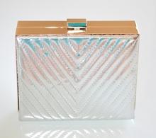 POCHETTE donna ARGENTO ORO borsello elegante borsa metallizzata da cerimonia H10