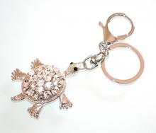PORTACHIAVI ciondolo argento donna tartarughina ragazza strass cristalli idea regalo A4