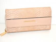 PORTAFOGLIO BEIGE borsello portamonete donna pochette ecopelle clutch borsa G28