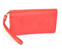 PORTAFOGLIO BORSELLO da borsa donna ROSSO zip oro borsellino portamonete pochette A12