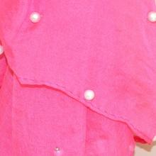 Stola foulard donna maxi coprispalle velato cerimonia sciarpa elegante fucsia perle x vestito da sera 120H