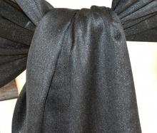 STOLA NERA donna scialle da cerimonia coprispalle elegante maxi foulard brillantini F20