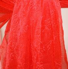 STOLA ROSSA coprispalle foulard donna  seta velato scialle elegante cerimonia A24