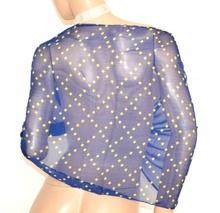 STOLA donna coprispalle BLU FUCSIA GIALLO elegante seta velata coprispalle da cerimonia E98