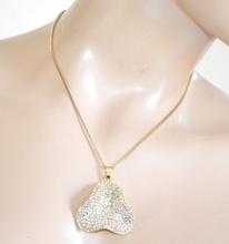 COLLANA donna girocollo oro dorato ciondolo strass catenina bigiotteria collier F310