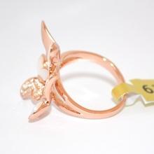 ANELLO ORO donna dorato STRASS elegante CRISTALLI da cerimonia anneau anillo 100