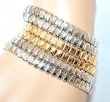 BRACCIALE argento oro polsiera donna multimaglie catena magnete bigiotteria F250