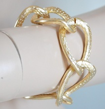 BRACCIALE donna anelli maglia anelli catena pulsera bracelet armband браслет B29