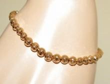 BRACCIALE tennis oro donna sfere metallo lucido dorato gold bracelet regalo BB27