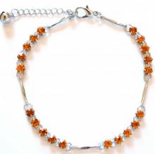 CAVIGLIERA donna cristalli argento strass oro ambra estiva gioiello estate brillantini 10A