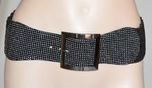 CINTURA MARRONE donna PELLE stringivita bustino elastica x abito belt ремень 240