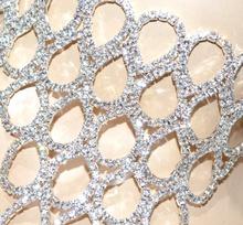 COLLANA COLLARINO donna argento strass girocollo collier sposa matrimonio G33