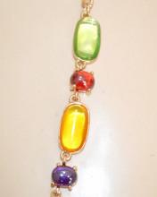 COLLANA LUNGA donna collier pietre cristallo rosa corallo turchese lilla ametista viola verdi N65