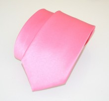 CRAVATTA 100% SETA ROSA uomo fatta a mano tinta unita classica necktie krawatte A27