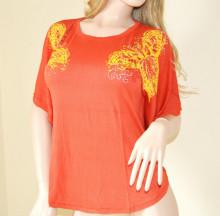 MAGLIETTA ARANCIONE donna tunica t-shirt maglia manica corta canotta P1