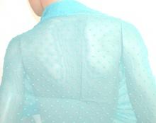 MAXI STOLA donna AZZURRA CELESTE foulard damigella 70%SETA velato coprispalle elegante cerimonia abito da sera H35