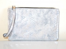 MINI BORSELLO ARGENTO donna borsellino pochette tracolla a mano clutch bag E179