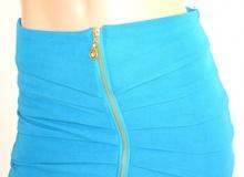 MINIGONNA donna AZZURRA mini gonna aderente corta tubino sexy мини-юбка jupe skirt M2