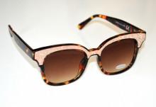 OCCHIALI da SOLE donna marrone maculato oro lenti ovali lurex brillantini glitter Sun glasses BB16
