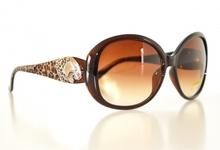 OCCHIALI da SOLE donna MARRONI lenti ovali maculati leopardati sunglasses gafas E15