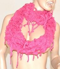 SCIARPA FUCSIA scaldacollo scialle donna lana bufanda écharpe шарф Schal Scarf 10