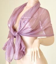 STOLA coprispalle donna ROSA GLICINE  foulard elegante scialle per abito da sera\cerimonia F1
