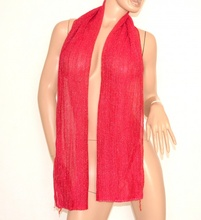 STOLA coprispalle ROSA FUCSIA lurex foulard donna sciarpa shimmer scarf 150