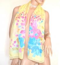 STOLA GIALLA foulard  fantasia velata coprispalle elegante cerimonia A42