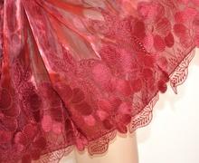 STOLA ROSSA RICAMATA donna MAXI coprispalle organza foulard elegante da sera H1