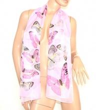 FOULARD STOLA sciarpa rosa LILLA Coprispalle donna seta da CERIMONIA velata ELEGANTE da sera scarf 650E