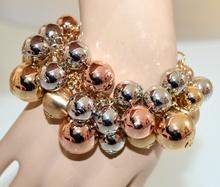BRACCIALE donna oro ciondoli argento rosa dorato lucide satinate elegante G31