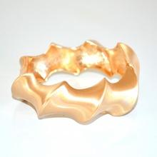 BRACCIALE donna oro giallo rigido ondulato satinato elegante\cerimonia 174