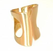 BRACCIALE RIGIDO donna ORO dorato satinato a schiava alto polsiera bracelet BB52