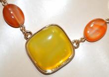 COLLANA PIETRA VERDE CORALLO donna ORO girocollo ciondoli collier catena anelli collier N90