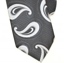 CRAVATTA nera grigio argento uomo fantasia fatta a mano elegante classica idea regalo H1F