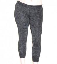 LEGGINGS NERO donna pantacollant fuseaux lurex skinny fuseaux pantalone shimmer G118