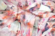 MAXI STOLA donna ROSA CORALLO raso satin elegante foulard da cerimonia coprispalle da sera E05