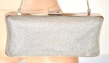 POCHETTE ARGENTO borsello donna clutch bag CERIMONIA borsa elegante da sera 1075