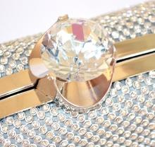 POCHETTE ARGENTO BORSELLO donna cristalli ELEGANTE strass CLUTCH cerimonia 980