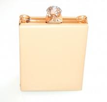 POCHETTE BEIGE ORO borsello borsa donna elegante cerimonia borsetta clutch F10