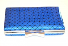 POCHETTE donna BLU  borsa borsello clutch bag elegante cerimonia  borsetta E115